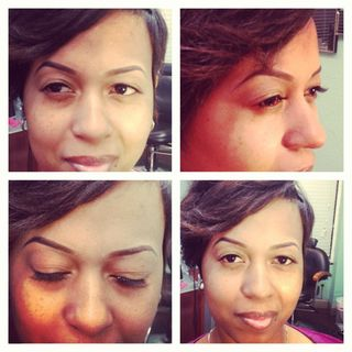 Concealer brows and threading