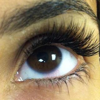 Close up eyelashes